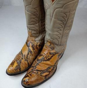Tony Lama men's sz 10.5B genuine exotic snake skin